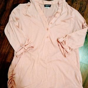 Pink maternity button up